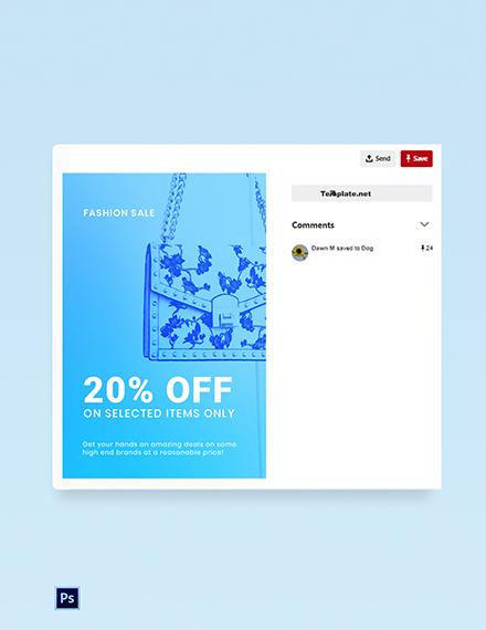 Free Fashion Sale Promotion Pinterest Pin Template