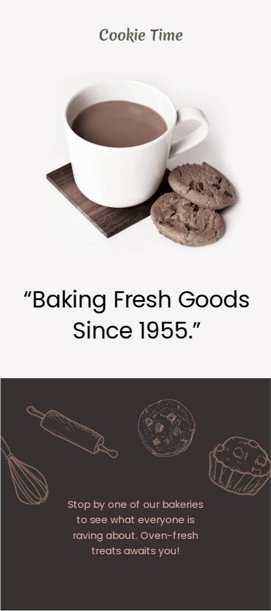 Cookie Shop DL Card Template