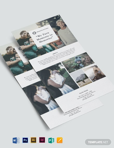 Family Photographer DL Card Template