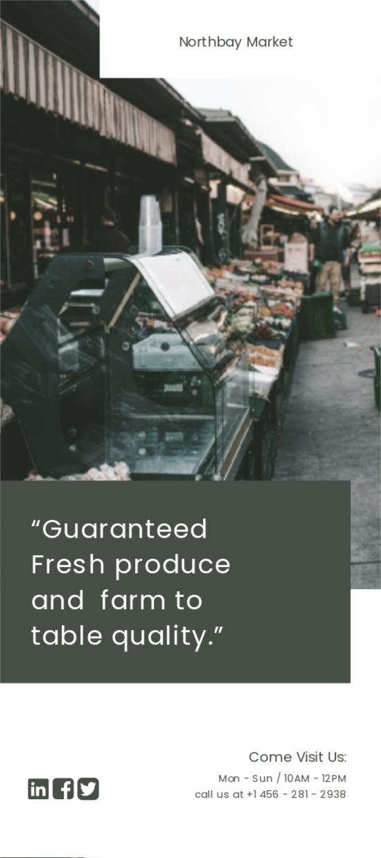 Farmers Market DL Card Template