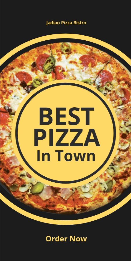 Pizza Menu DL Card Template