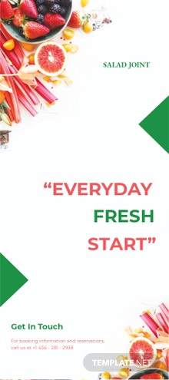 Salad Menu DL Card Template