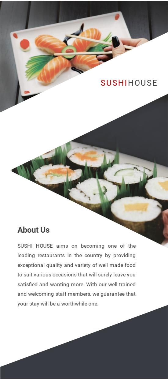 Sushi Restaurant DL Card Template 1.jpe