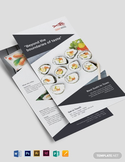 Sushi Restaurant DL Card Template