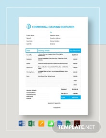 Commercial Cleaning Quotation Template