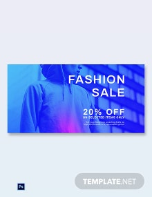 Free Fashion Sale Discounts Blog Image Post Template