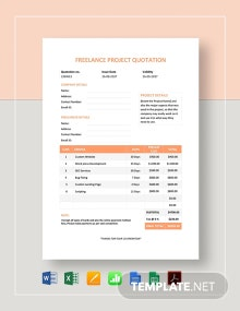Freelance Project Quotation Template