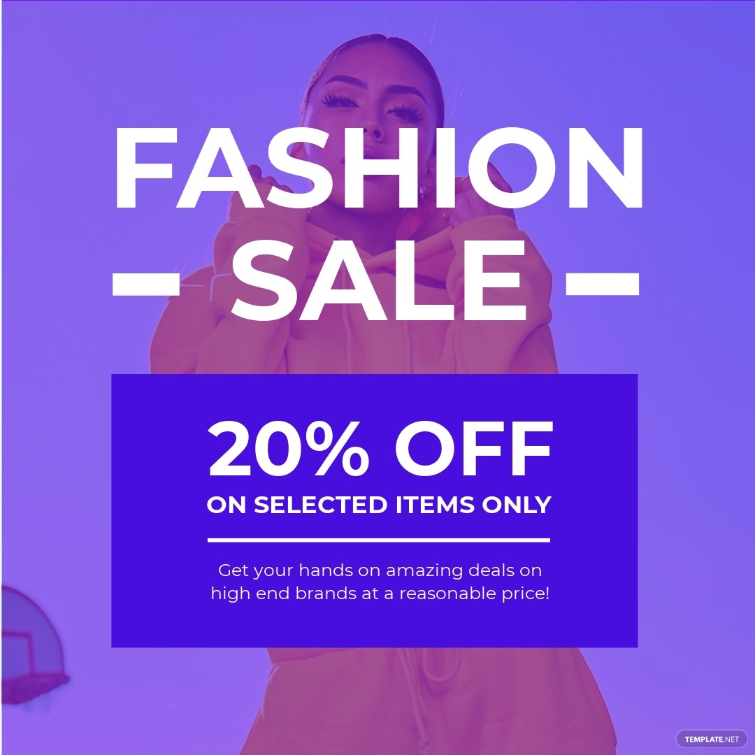 Fashion Sale Discounts Instagram Post Template