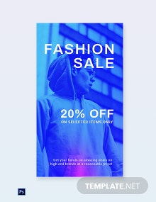 Free Fashion Sale Discounts Instagram Story Template