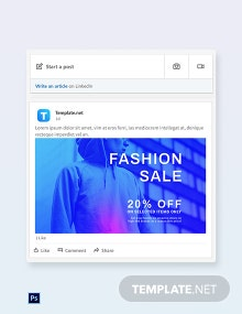 Fashion Sale Discounts LinkedIn Blog Post Template