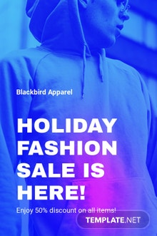 Free Fashion Sale Discounts Tumblr Post Template