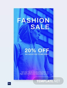 Free Fashion Sale Discounts WhatsApp Image Template
