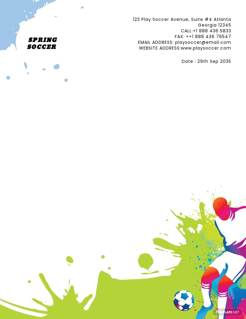 Free Soccer Letterhead Template.jpe