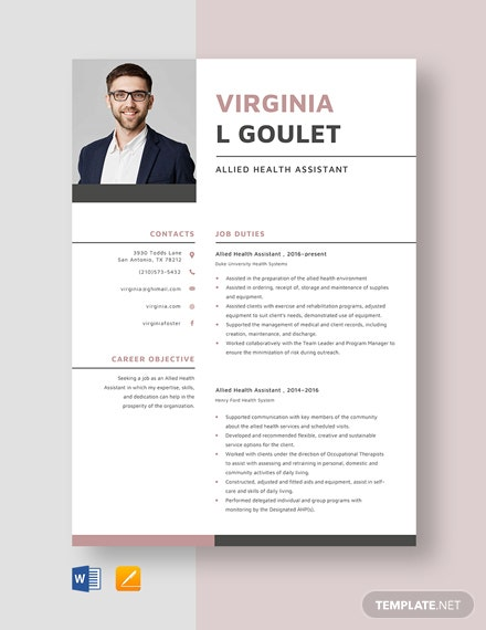 assistant dean of students resume template