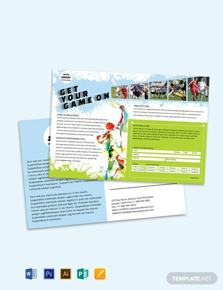 free soccer post card template 440x570 1