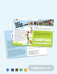 Free Soccer Post Card Template