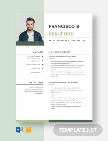 Architectural Coordinator Resume Template