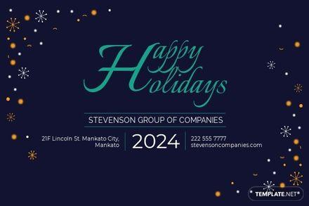 Business Holiday Postcard Template.jpe