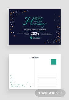 Free Business Holiday Postcard Template