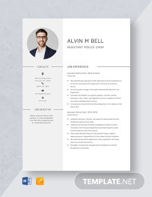 Assistant Police Chief Resume Template
