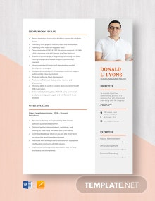Clearcase Administrator Resume Template