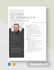 Clinical Social Worker Resume Template