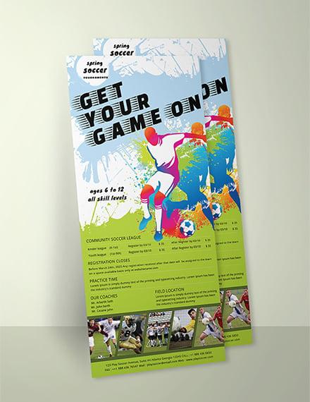 Free Soccer Rack Card Template