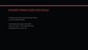 Sample Service Dog/Animal ID Card Template 1.jpe