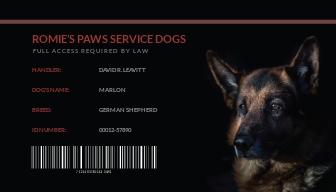 Sample Service Dog/Animal ID Card Template.jpe