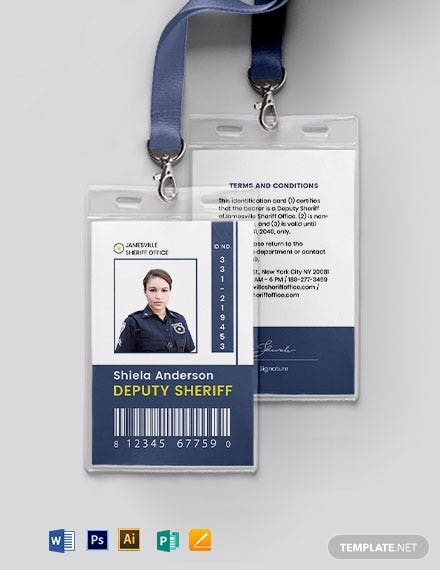 Sherif ID Card Template