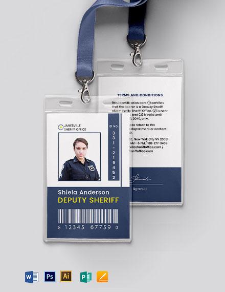Sherif ID Card Template
