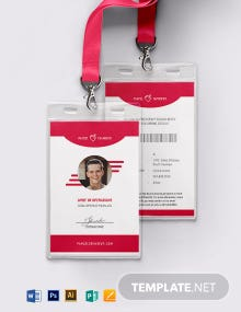 Shipping Service ID Card Template