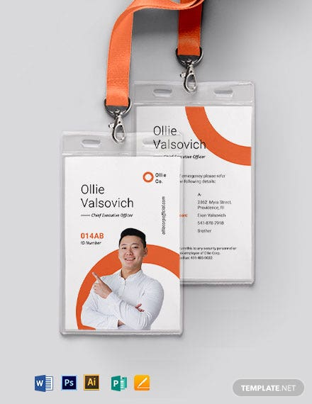 Simple Corporate ID Card Template