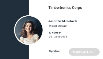 Simple Employee ID Card Template