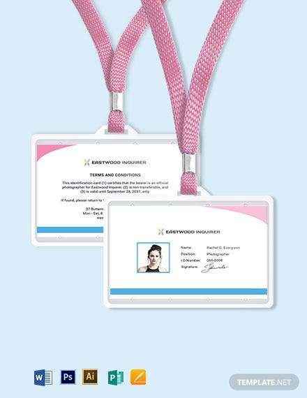 Simple Photographer ID Card Template