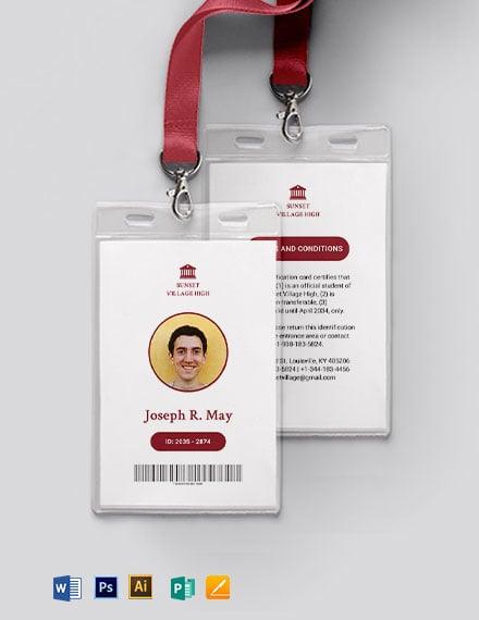 Simple School ID Card