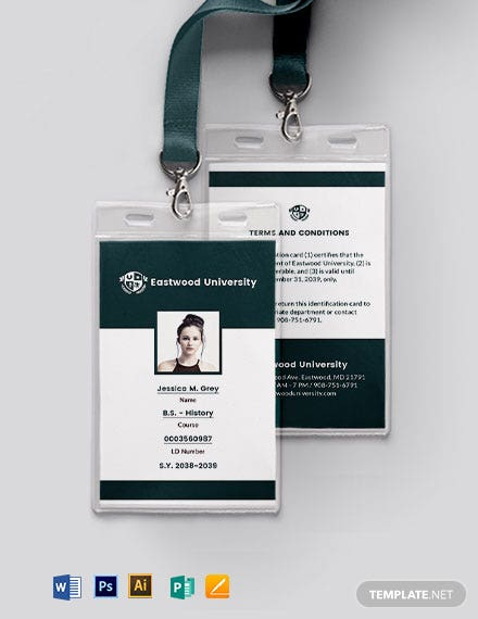 Simple Student ID Card Template