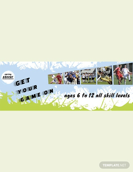 Free Soccer Social Cover Apple Pages Templates