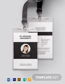 Simple University ID Card Template