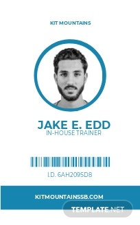 Simple SnowBoard ID Card Template