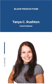 Staff ID Card Template