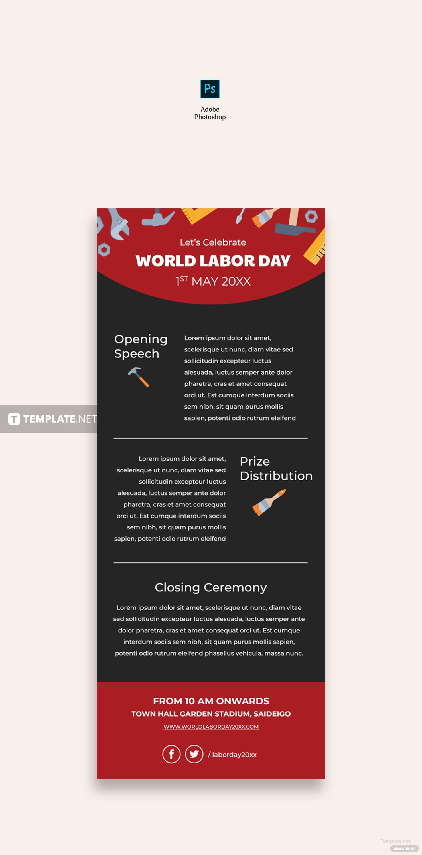 Free Labor Day Email Newsletter Template in Adobe Photoshop, HTML ...