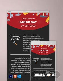 Free Labor Day Email Newsletter Template