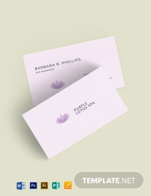 Beauty Salon Spa Business Card Template