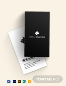Black White Vertical Business Card Template