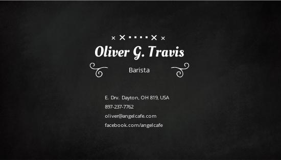 Black Board Business Card Template 1.jpe
