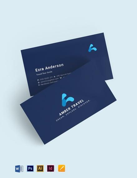 Blue Creative Business Card Template