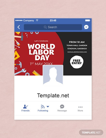 Free Labor Day Facebook App Cover Template