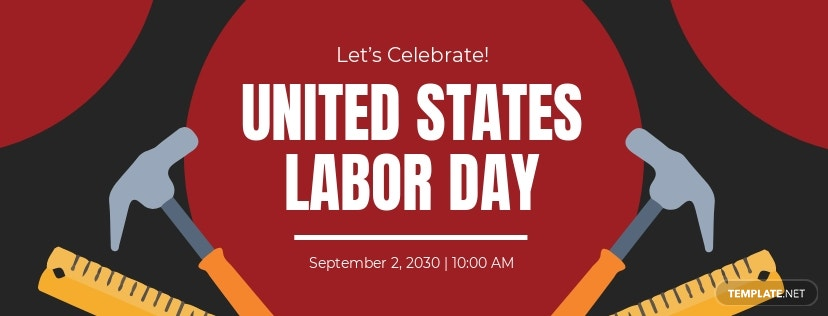 Free Labor Day Facebook App Cover Template.jpe