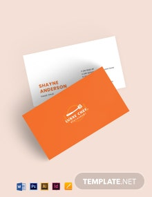 Chef Business Card Template